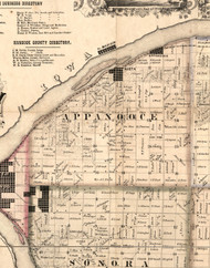 Appanooce, Illinois 1859 Old Town Map Custom Print - Hancock Co.