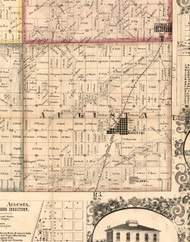 Augusta, Illinois 1859 Old Town Map Custom Print - Hancock Co.