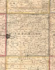Carthage, Illinois 1859 Old Town Map Custom Print - Hancock Co.