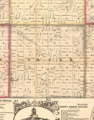 Chili, Illinois 1859 Old Town Map Custom Print - Hancock Co.