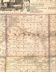 Durham, Illinois 1859 Old Town Map Custom Print - Hancock Co.
