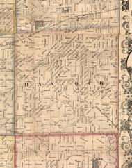 Hancock, Illinois 1859 Old Town Map Custom Print - Hancock Co.