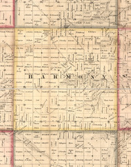 Harmony, Illinois 1859 Old Town Map Custom Print - Hancock Co.