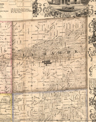 LaHarpe, Illinois 1859 Old Town Map Custom Print - Hancock Co.