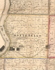 Montebello, Illinois 1859 Old Town Map Custom Print - Hancock Co.