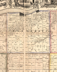 Pontoosuc, Illinois 1859 Old Town Map Custom Print - Hancock Co.