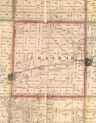 Prairie, Illinois 1859 Old Town Map Custom Print - Hancock Co.