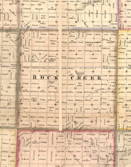 Rock Creek, Illinois 1859 Old Town Map Custom Print - Hancock Co.