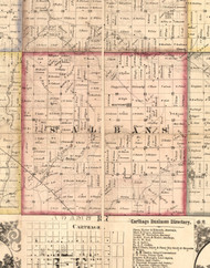 St Albans, Illinois 1859 Old Town Map Custom Print - Hancock Co.