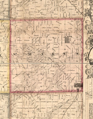 St Marys, Illinois 1859 Old Town Map Custom Print - Hancock Co.