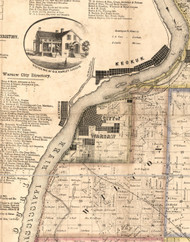 Warsaw, Illinois 1859 Old Town Map Custom Print - Hancock Co.