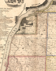 Wilcox, Illinois 1859 Old Town Map Custom Print - Hancock Co.