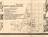 Augusta Village - Hancock Co., Illinois 1859 Old Town Map Custom Print - Hancock Co.