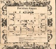 Fountain Green Village - Hancock Co., Illinois 1859 Old Town Map Custom Print - Hancock Co.