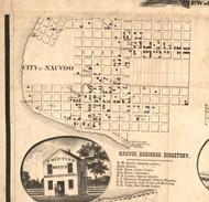 Nauvoo Village - Hancock Co., Illinois 1859 Old Town Map Custom Print - Hancock Co.