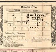 Dallas City Village - Hancock Co., Illinois 1859 Old Town Map Custom Print - Hancock Co.