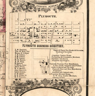 Plymouth Village - Hancock Co., Illinois 1859 Old Town Map Custom Print - Hancock Co.