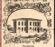 Augusta Academy - Hancock Co., Illinois 1859 Old Town Map Custom Print - Hancock Co.