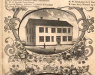 Hancock Poor House - Hancock Co., Illinois 1859 Old Town Map Custom Print - Hancock Co.