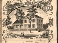 D Fochenour Esq Residence LaHarpe - Hancock Co., Illinois 1859 Old Town Map Custom Print - Hancock Co.