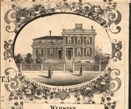Dr NB Butler Residence LaHarpe - Hancock Co., Illinois 1859 Old Town Map Custom Print - Hancock Co.
