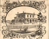 J Warren Esq Residence LaHarpe - Hancock Co., Illinois 1859 Old Town Map Custom Print - Hancock Co.