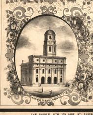 Mormon Temple Nauvoo - Hancock Co., Illinois 1859 Old Town Map Custom Print - Hancock Co.