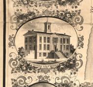 Warsaw Public Schools - Hancock Co., Illinois 1859 Old Town Map Custom Print - Hancock Co.