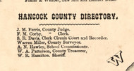 Hancock Co Directory - Hancock Co., Illinois 1859 Old Town Map Custom Print - Hancock Co.