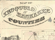 Title of Source Map - Iroquois & Kankakee Cos., Illinois 1860 Old Town Map Custom Print - Iroquois & Kankakee Cos.
