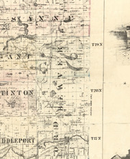 Beaver, Illinois 1860 Old Town Map Custom Print - Iroquois & Kankakee Cos.