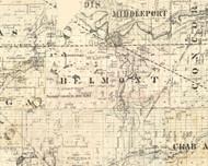 Belmont, Illinois 1860 Old Town Map Custom Print - Iroquois & Kankakee Cos.