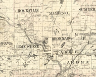 Bourbonais, Illinois 1860 Old Town Map Custom Print - Iroquois & Kankakee Cos.