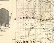 Essex, Illinois 1860 Old Town Map Custom Print - Iroquois & Kankakee Cos.