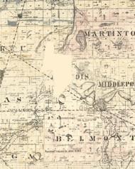 Iroquois, Illinois 1860 Old Town Map Custom Print - Iroquois & Kankakee Cos.