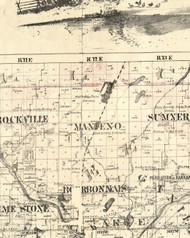 Manteno, Illinois 1860 Old Town Map Custom Print - Iroquois & Kankakee Cos.