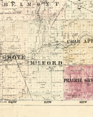 Milford, Illinois 1860 Old Town Map Custom Print - Iroquois & Kankakee Cos.