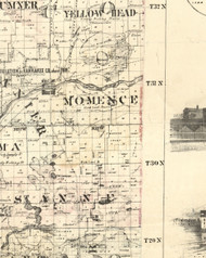 Momence, Illinois 1860 Old Town Map Custom Print - Iroquois & Kankakee Cos.