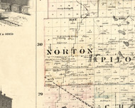 Norton, Illinois 1860 Old Town Map Custom Print - Iroquois & Kankakee Cos.