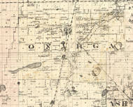 Onagra, Illinois 1860 Old Town Map Custom Print - Iroquois & Kankakee Cos.