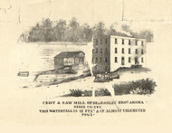 Beardsley Bros Grist Saw Mill Aroma - Iroquois & Kankakee Cos., Illinois 1860 Old Town Map Custom Print - Iroquois & Kankakee Cos.