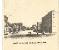 Kankakee Court Street - Iroquois & Kankakee Cos., Illinois 1860 Old Town Map Custom Print - Iroquois & Kankakee Cos.