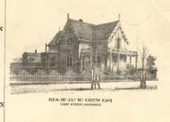 J McGrew Esq Residence Kankakee - Iroquois & Kankakee Cos., Illinois 1860 Old Town Map Custom Print - Iroquois & Kankakee Cos.