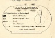 Explanations Key  - Iroquois & Kankakee Cos., Illinois 1860 Old Town Map Custom Print - Iroquois & Kankakee Cos.