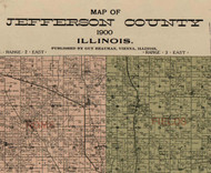 Title of Source Map - Jefferson Co., Illinois 1900 Old Town Map Custom Print - Jefferson Co.