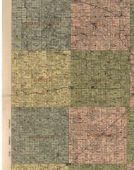 Casner, Illinois 1900 Old Town Map Custom Print - Jefferson Co.