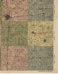 Pendleton, Illinois 1900 Old Town Map Custom Print - Jefferson Co.