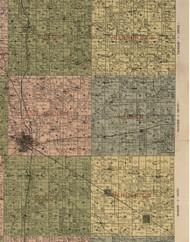 Webber, Illinois 1900 Old Town Map Custom Print - Jefferson Co.