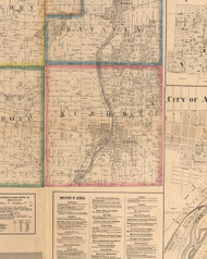 Aurora, Illinois 1860 Old Town Map Custom Print - Kane Co.