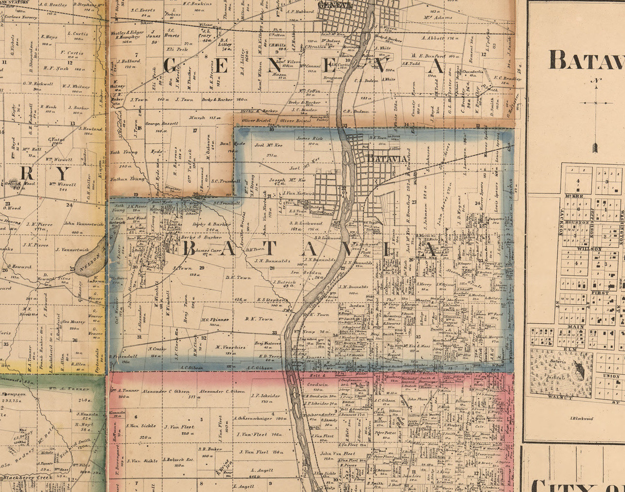 1872 Atlas of Whiteside County and State of Illinois IL Plat Maps Book on CD